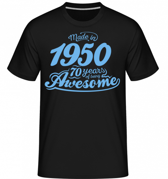 Made In 1950 70 Years Awesome - Shirtinator Männer T-Shirt - Schwarz - Vorn