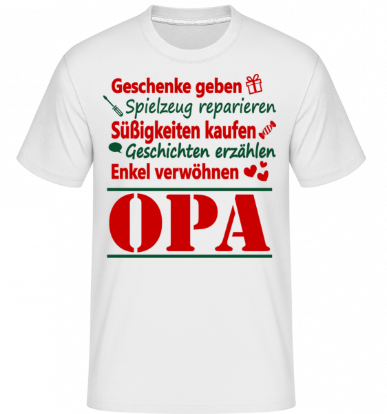 Der Perfekte Opa - Shirtinator Männer T-Shirt - Weiß - Vorn