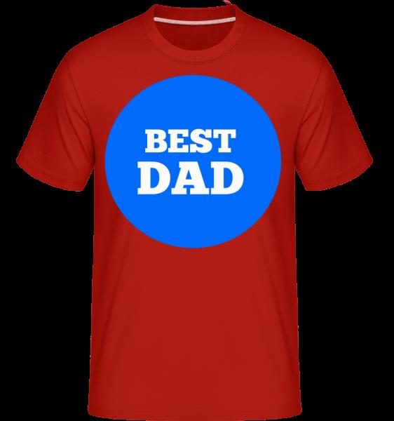 Best Dad - Shirtinator Männer T-Shirt - Rot - Vorn