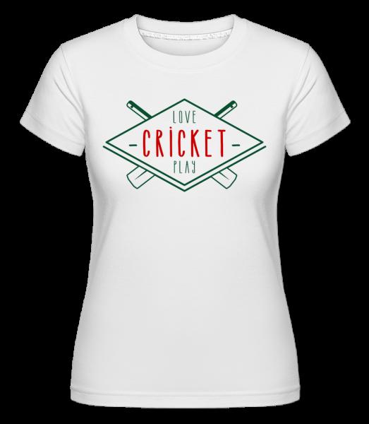 Love And Play Cricket -  Shirtinator Women's T-Shirt - White - Vorn
