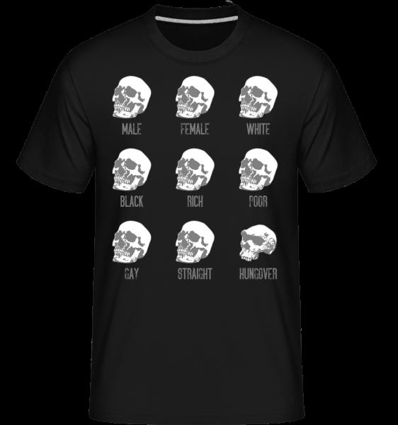 Hungover Skull - Shirtinator Männer T-Shirt - Schwarz - Vorn