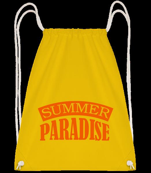 Summer Paradise Orange - Drawstring Backpack - Yellow - Vorn