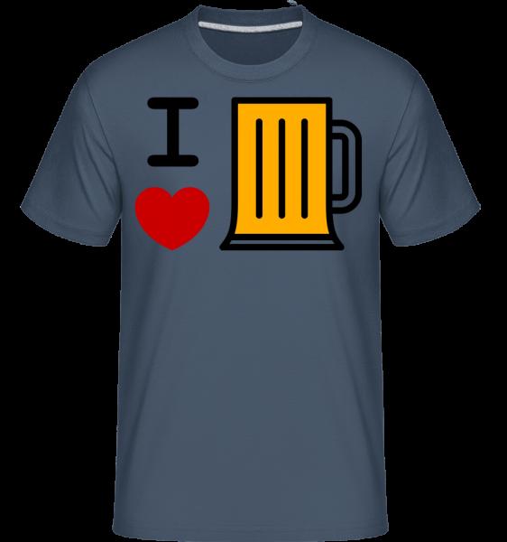 I Love Beer - Shirtinator Men's T-Shirt - Denim - Vorn