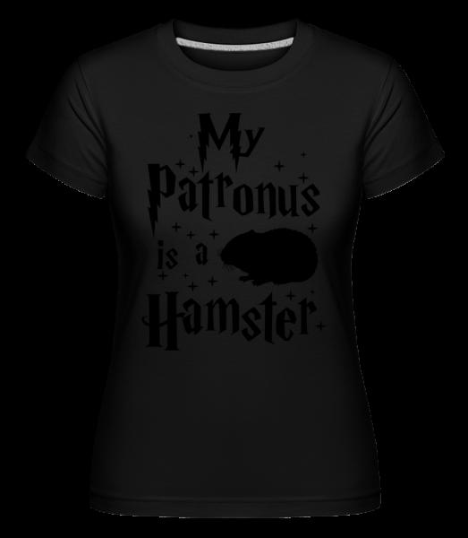 My Patronus Is A Hamster - Shirtinator Frauen T-Shirt - Schwarz - Vorn