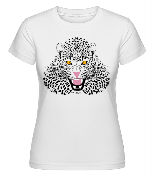 Leopard -  Shirtinator Women's T-Shirt - White - Vorn