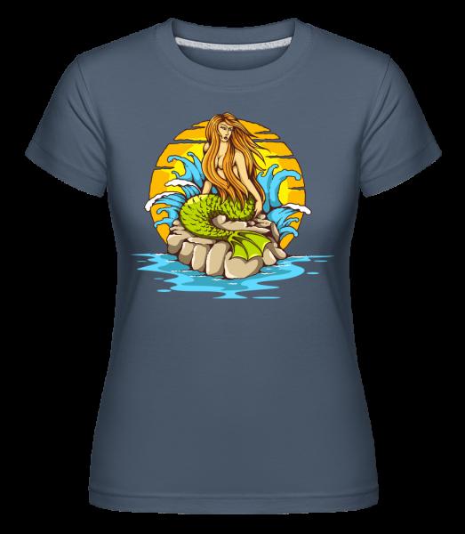 Mermaid -  Shirtinator Women's T-Shirt - Denim - Front