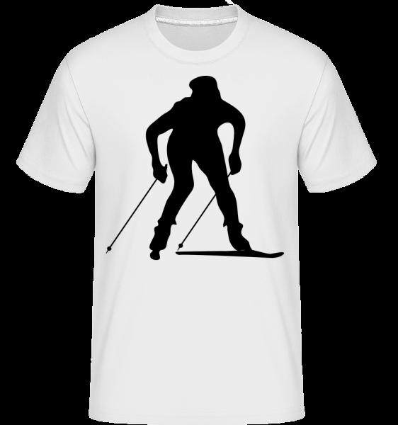 Skifahrer - Shirtinator Männer T-Shirt - Weiß - Vorn