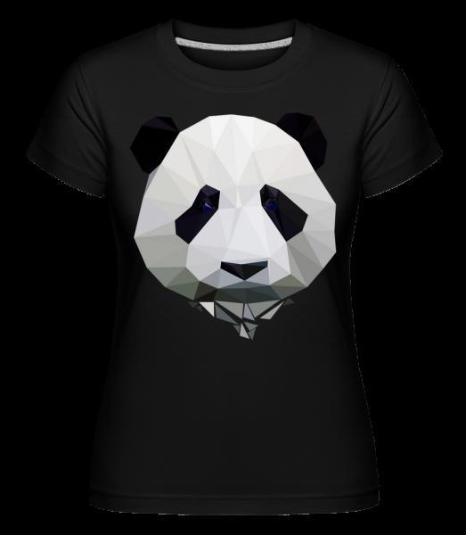 Polygon Panda - Shirtinator Frauen T-Shirt - Schwarz - Vorn