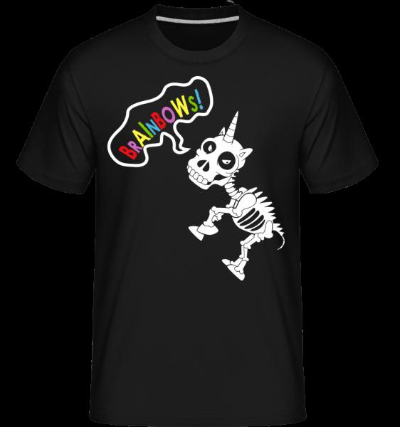 Dead Unicorn Rainbows - Shirtinator Männer T-Shirt - Schwarz - Vorn