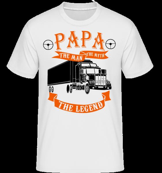 Papa The Legend - Shirtinator Männer T-Shirt - Weiß - Vorn