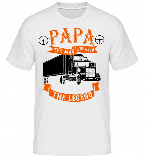 Papa The Legend -  Shirtinator Men's T-Shirt - White - Vorn