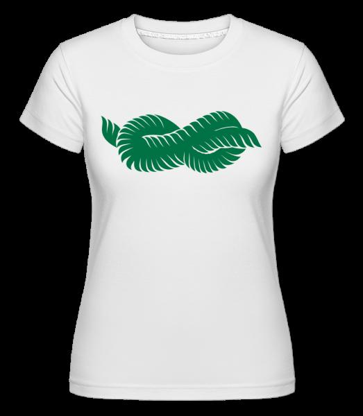 Plant Icon Green -  Shirtinator Women's T-Shirt - White - Vorn