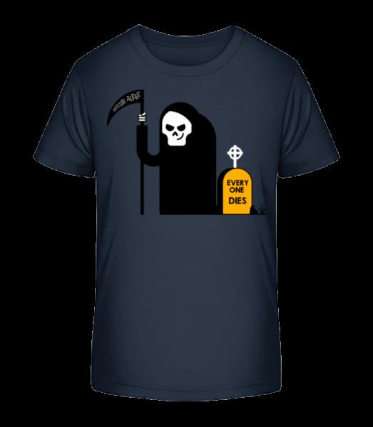 Everyone Dies - Kinder Premium Bio T-Shirt - Marine - Vorn