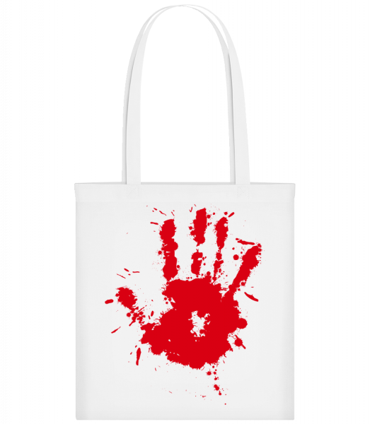 Handprint Blood - Carrier Bag - White - Vorn
