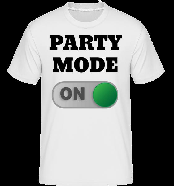 Party Mode On -  Shirtinator Men's T-Shirt - White - Vorn