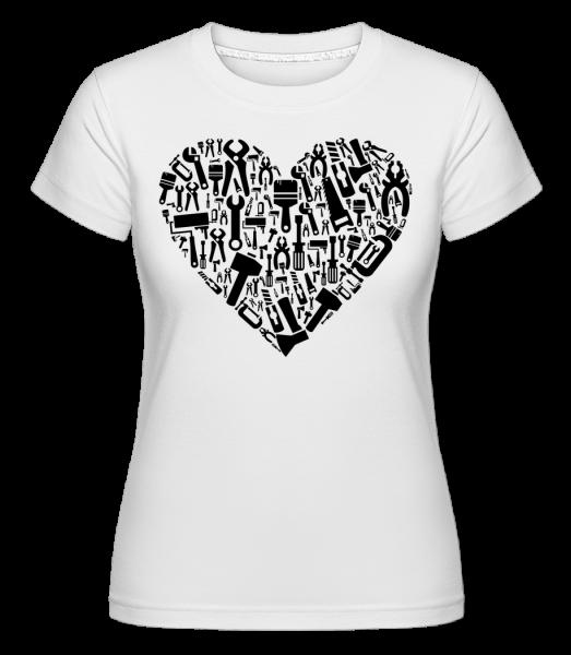 Love DIY Heart - Shirtinator Women's T-Shirt - White - Vorn