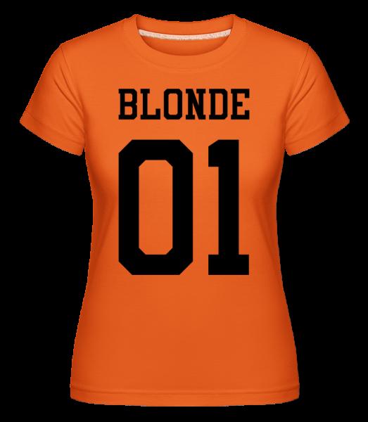 Blonde 01 - Shirtinator Frauen T-Shirt - Orange - Vorn