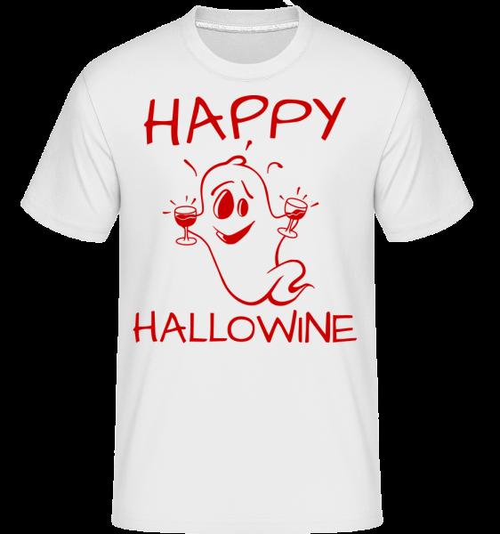 Happy Halloween Ghost - Shirtinator Männer T-Shirt - Weiß - Vorn