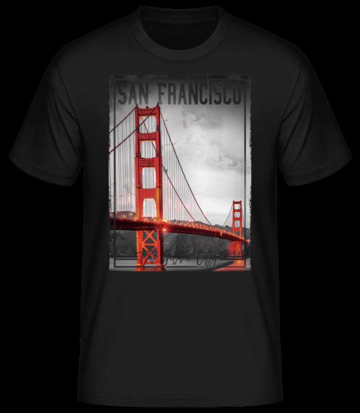 San Francisco Golden City - Men's Basic T-Shirt - Black - Front