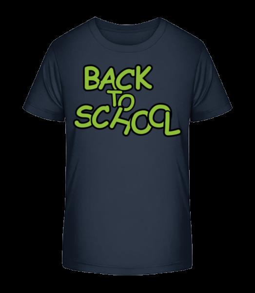 Back To School - Kinder Premium Bio T-Shirt - Marine - Vorn