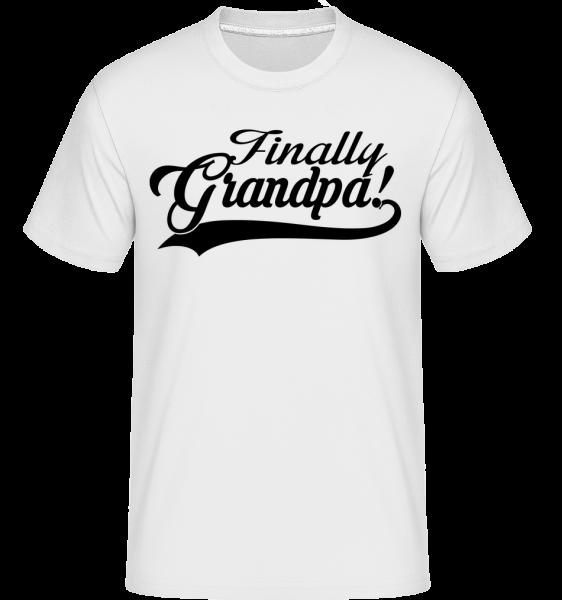 Finally Grandpa - Shirtinator Männer T-Shirt - Weiß - Vorn