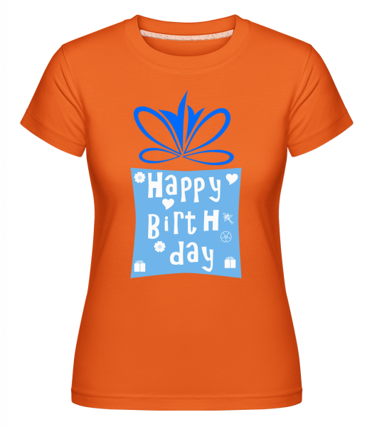 Happy Birthday Logo - Shirtinator Frauen T-Shirt - Orange - Vorn