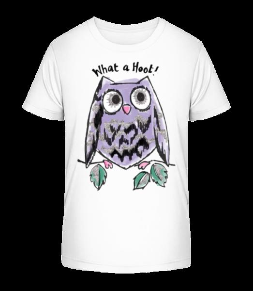 What A Hoot - Kid's Premium Bio T-Shirt - White - Front