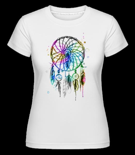 Mystischer Traumfänger - Shirtinator Frauen T-Shirt - Weiß - Vorn