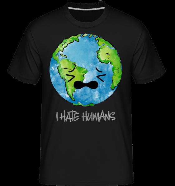 Earth Hates Humans - Shirtinator Männer T-Shirt - Schwarz - Vorn