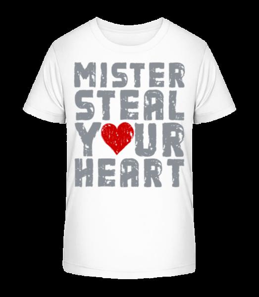 Mister Steal Your Heart - Kinder Premium Bio T-Shirt - Weiß - Vorn