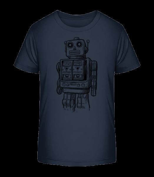 Baby Roboter - Kinder Premium Bio T-Shirt - Marine - Vorn
