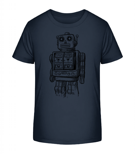 Baby Robot - Kid's Premium Bio T-Shirt - Navy - Front