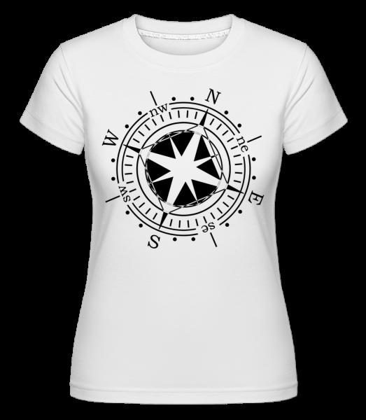 Compass -  Shirtinator Women's T-Shirt - White - Vorn