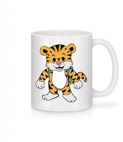 Cute Tiger With Bag - Mug - White - Front