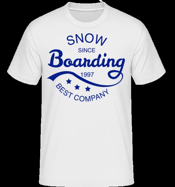 Snowboarding Since 1997 Logo -  Shirtinator Men's T-Shirt - White - Vorn