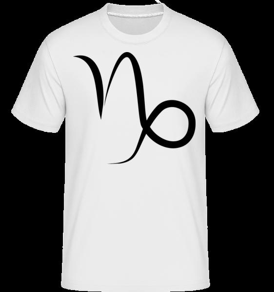 Steinbock Zeichen - Shirtinator Männer T-Shirt - Weiß - Vorn