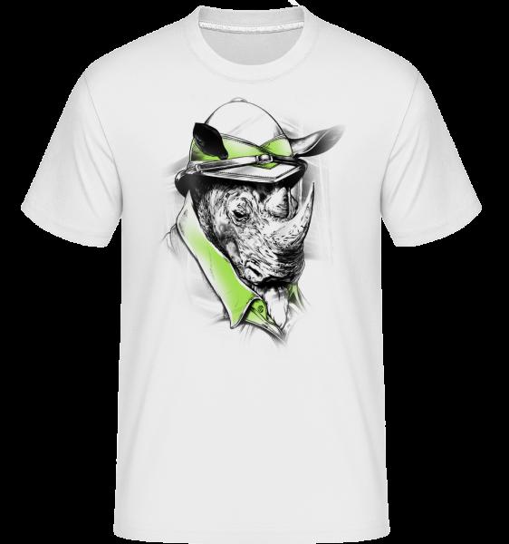 Safari Nashorn - Shirtinator Männer T-Shirt - Weiß - Vorn