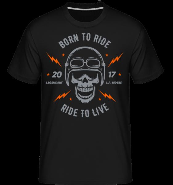 Born To Ride - Shirtinator Männer T-Shirt - Schwarz - Vorn