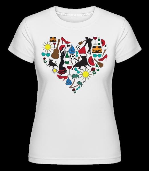 Herz Spanien - Shirtinator Frauen T-Shirt - Weiß - Vorn