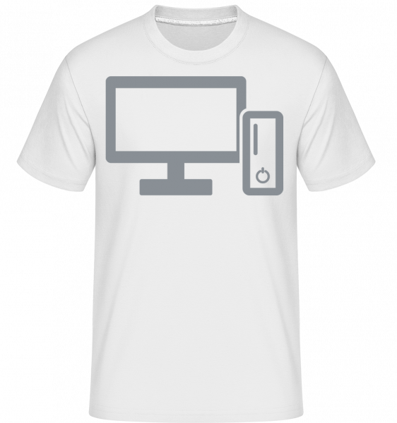 Console And TV -  Shirtinator Men's T-Shirt - White - Vorn