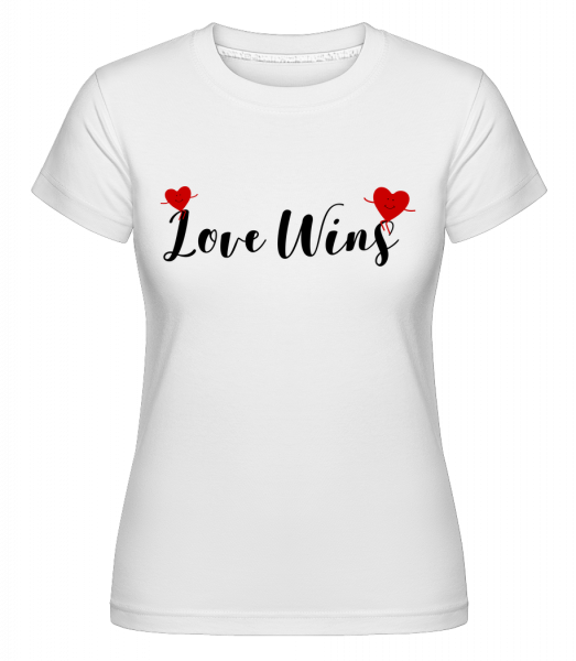 Love Wins - Shirtinator Frauen T-Shirt - Weiß - Vorn