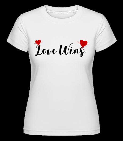 Love Wins -  Shirtinator Women's T-Shirt - White - Vorn