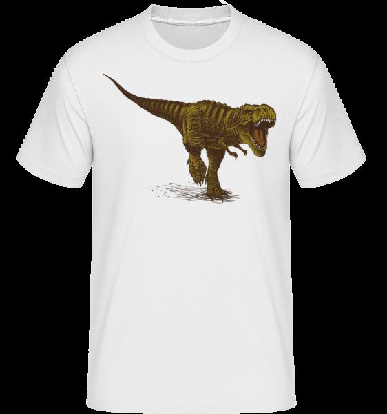 T-Rex - Shirtinator Männer T-Shirt - Weiß - Vorn