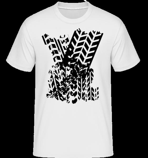 Tires Symbol - Shirtinator Männer T-Shirt - Weiß - Vorn