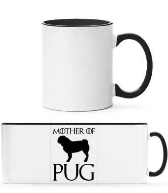 Mother Of Pug - Two-toned Mug - White - Front