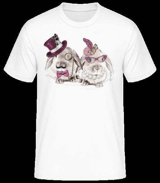 Mr And Mrs Rabbit - Men's Basic T-Shirt - White - Front