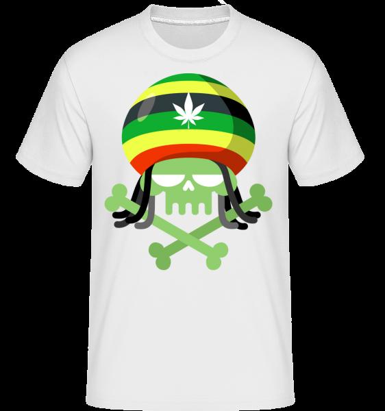 Marijuana Skull -  Shirtinator Men's T-Shirt - White - Vorn
