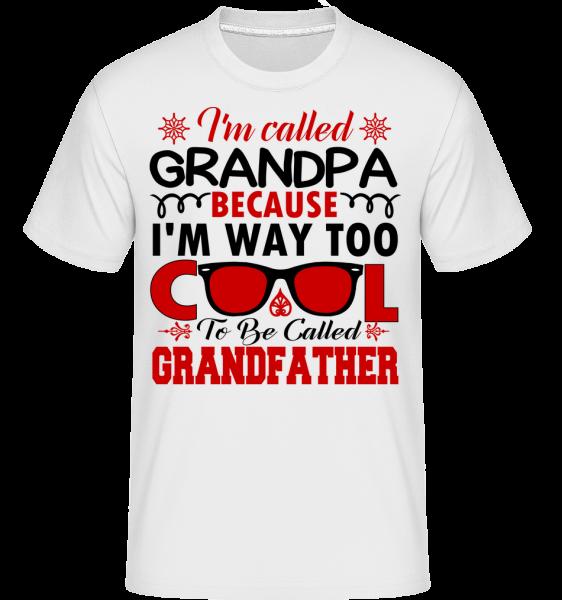 Way Too Cool Grandpa - Shirtinator Männer T-Shirt - Weiß - Vorn