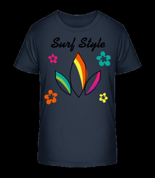 Surf Style Colourful - Kid's Premium Bio T-Shirt - Navy - Front