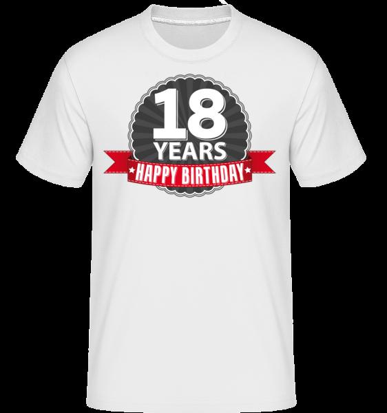 18 Years Birthday -  Shirtinator Men's T-Shirt - White - Vorn